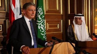 """أبرز ما جاء في المؤتمر الصحفي الذي عقده وزير الخارجية السعودي """" الجبير """" مع وزير خارجية بريطانيا """" هاموند """""""
