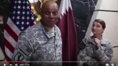 شاهد بالفيديو .. جنود أمريكيين يسخرون من قطر والخارجية القطرية تستدعي السفيرة الأمريكية .. والسفيرة تعتذر