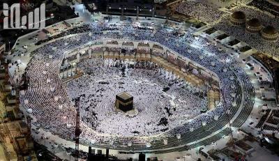 شاهد 13 صورة لروعة وجمال الحرم المكي من الجو في الليل والنهار عبر الطائرات المروحية في رمضان