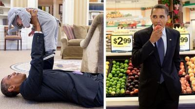 شاهد 5 صور تظهر الجانب الطريف من شخصية أوباما