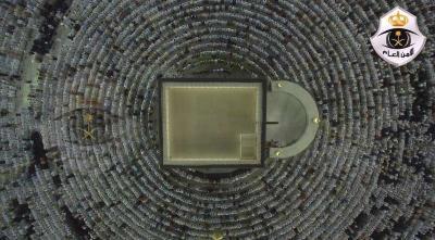 شاهد صورة من الأعلى .. كيف يلتف المصلون حول الكعبة أثناء الصلاة