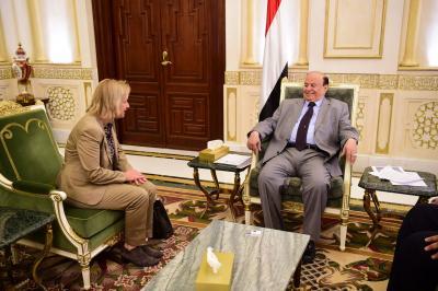 يلتقي رئيسة بعثة الاتحاد الاوربي لدى اليمن