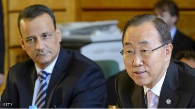 أبرز ما طرحه  الأمين العام للأمم المتحدة بان كي مون على الأطراف اليمنية أثناء وصوله الكويت
