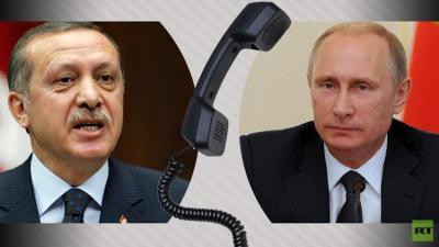ذوبان الجليد بين تركيا وروسيا .. بوتين يهاتف أردوغان