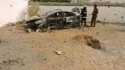 شاهد بالصور .. سقوط قذائف على منطقة سعودية مصدرها اليمن