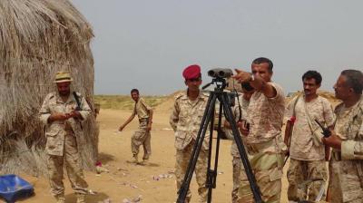 معارك عنيفة في جبهة حرض بين الحوثيين والجيش الوطني وطائرات الآباتشي تتدخل