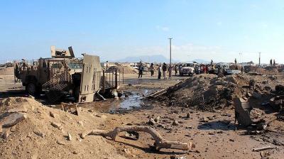 إشتداد المعارك في تعز بين المقاومة والحوثيين في محاولة لبسط السيطرة الكاملة على اللواء 35 مدرع وكمين في البيضاء يصرع 9 حوثيين