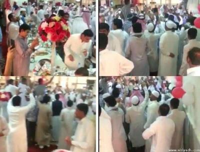 شاهد بالصور والفيديو .. إحتفال ورقص داخل أحد مساجد السعودية .. وإستدعاء إمام المسجد والتحقيق معه
