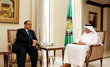 ولد الشيخ يلتقي بأمين عام مجلس التعاون الخليجي في الرياض
