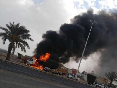 بالصور .. سقوط قذائف أطلقت من الآراضي اليمنية باتجاه السعودية