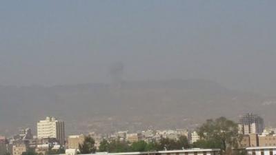 أسماء المواقع التي استهدفها طيران التحالف منذ الفجر  وحتى صباح اليوم الخميس في العاصمة صنعاء ( مُفصّل - صوره )