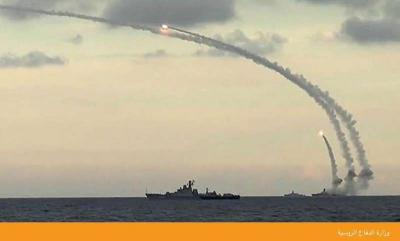 """صفقة أسلحة روسية  ..  5 سفن حربية وصواريخ """"كاليبر"""" الروسية  المجنحة والمدمرة في طريقها للسعودية ( صور)"""