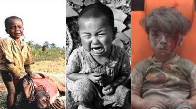 شاهد  10 صور لأطفال هزوا ضمير العالم