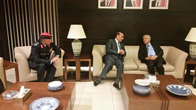 وفد يمني يصل الأردن برئاسة  وزير الداخلية اللواء حسين عرب لمعالجة أوضاع اليمنيين هناك
