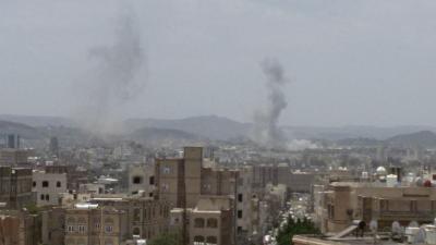 بالصور .. أسماء المواقع التي استهدفها طيران التحالف ظهر اليوم في العاصمة صنعاء