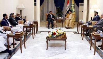 شاهد بالصورة .. الحوثيون يكشفون حقيقة زيارتهم للعراق ويلتقون بالمرجعيات الشيعية
