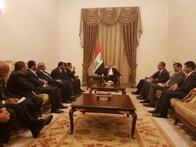 """ناطق الحوثيين يقول إن رئيس الوزراء العراقي """" العبادي """" رحب بتشكيل المجلس السياسي ( صور )"""