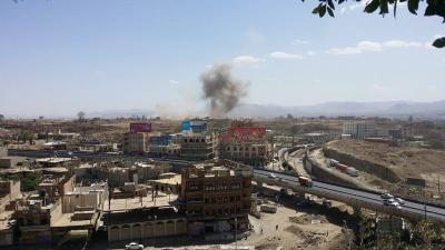 بالصور ..  أسماء المواقع التي استهدفها طيران التحالف قبل قليل وسط العاصمة صنعاء وسقوط صواريخ لم تنفجر
