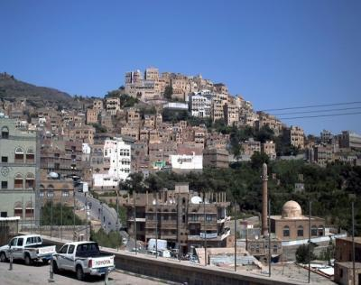 غارات جوية على مدينة المحويت