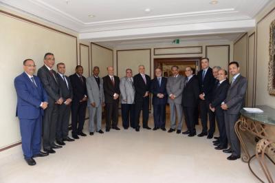المخلافي يلتقي سفراء المجموعه العربية المعتمدين لدى المانيا