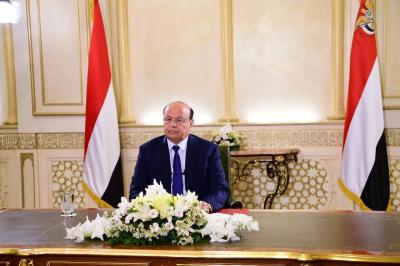 نص خطاب الرئيس هادي والذي وجهه مساء اليوم للشعب اليمني