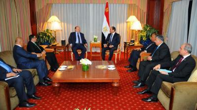 الرئيس هاي يلتقي الرئيس المصري في أمريكا ( صوره)