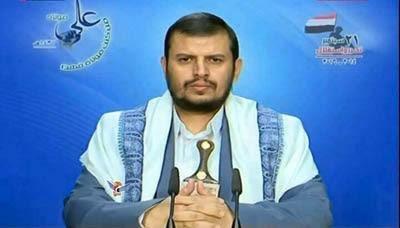 """لأول مره عبد الملك الحوثي على قناة اليمن اليوم التابعة للرئيس السابق """" صالح """""""