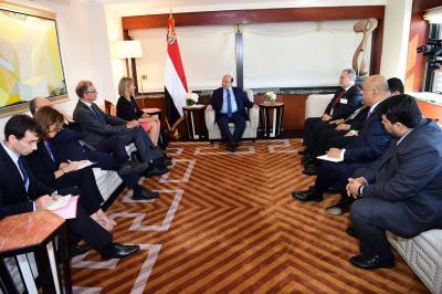 الرئيس هادي يلتقي الممثل الأعلى للاتحاد الأوروبي ( صوره)