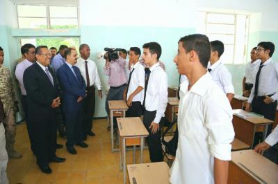 رئيس الوزراء يدشن العام الدراسي الجديد بعدن