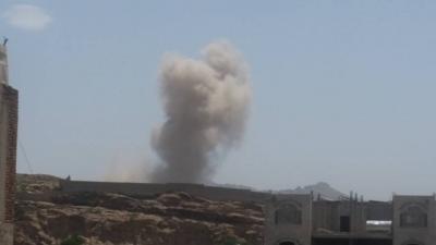 أسماء المواقع التي استهدفها الطيران صباح اليوم في العاصمة صنعاء