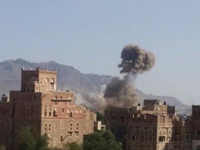 الطيران يعاود قصف شمال العاصمة صنعاء ( صوره - المنطقة المستهدفة )