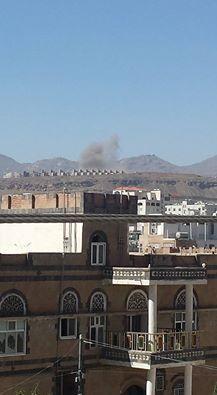 غارات جوية وإنفجارات تهز العاصمة صنعاء (  صور - المواقع المستهدفة )