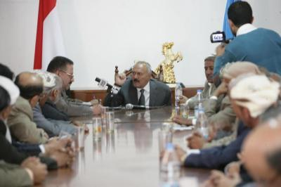 """الرئيس السابق """" صالح """" يهاجم السعودية ويوجه بإعداد الملفات والوثائق والمعلومات"""