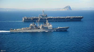 صاروخان يستهدفان مدمرة أمريكية قبالة السواحل اليمنية