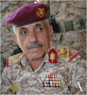 """الإعلان رسمياً عن وفاة قائد قوات الإحتياط """" الحرس الجمهوري """" اللواء علي بن علي الجائفي"""