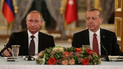 """بوتين وأردوغان يوقعان مشروع """"السيل التركي"""""""