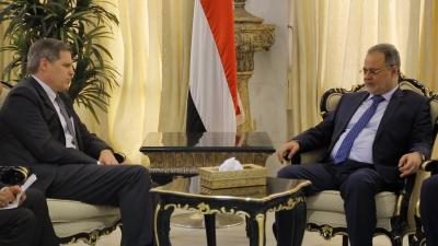 """وزير الخارجية  """" المخلافي """" يبحث مع السفير الامريكي المستجدات على الساحة المحلية"""