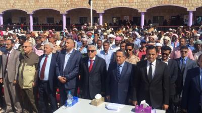 """رئيس الوزراء """" بن دغر """"  يحضر الاحتفال الجماهيري بالعيد الوطني الـ 53 لثورة الـ14 من أكتوبر"""