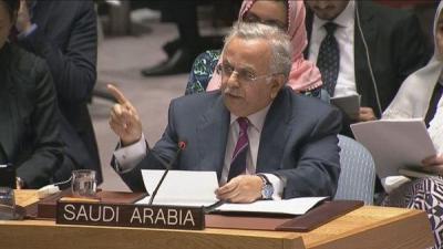 المندوب السعودي لدى الأمم المتحدة : بكاء إيران على اليمنيين لن يخدع أحداً