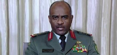 """تصريح لناطق التحالف """" عسيري """" ينفي حصار التحالف لليمن ويكشف سبب منع الطائرات المدنية من إستخدام مطار صنعاء"""