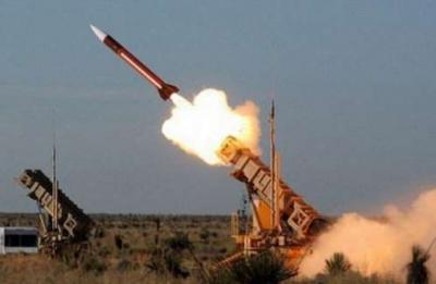 إعتراض صاروخ باليستي فوق مدينة مأرب