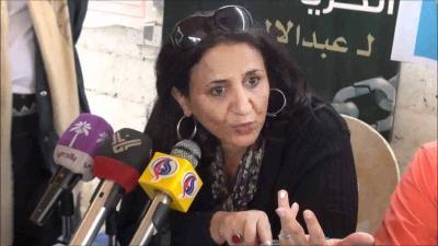 """بالفيديو .. الناشطة  أمل الباشا  تظهر عنصريتها أمام قناة """" الحرة """" وتتفاخر أنها من أسرة هاشمية ومن طبقة السادة"""