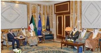 أمير دولة الكويت يستقبل نائب رئيس الوزراء وزير الخارجية اليمني