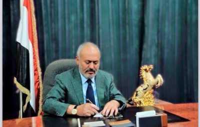 """الرئيس السابق """" صالح """" يدعو في برقيه بعثها للرئيس الأمريكي  ترامب إلى التعاون مع روسيا !"""