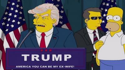 مسلسل كارتوني يتنبأ بفوز ترامب قبل 16 عاماً ( تفاصيل)
